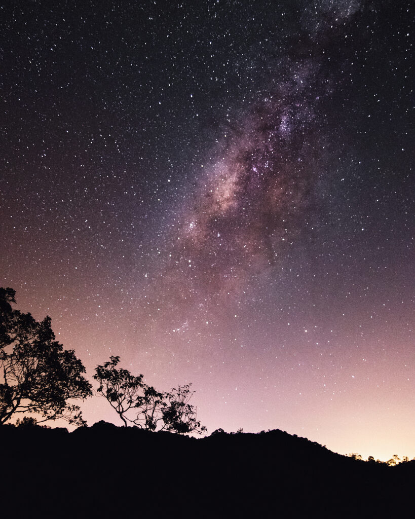 Silueta nocturna en Guatape