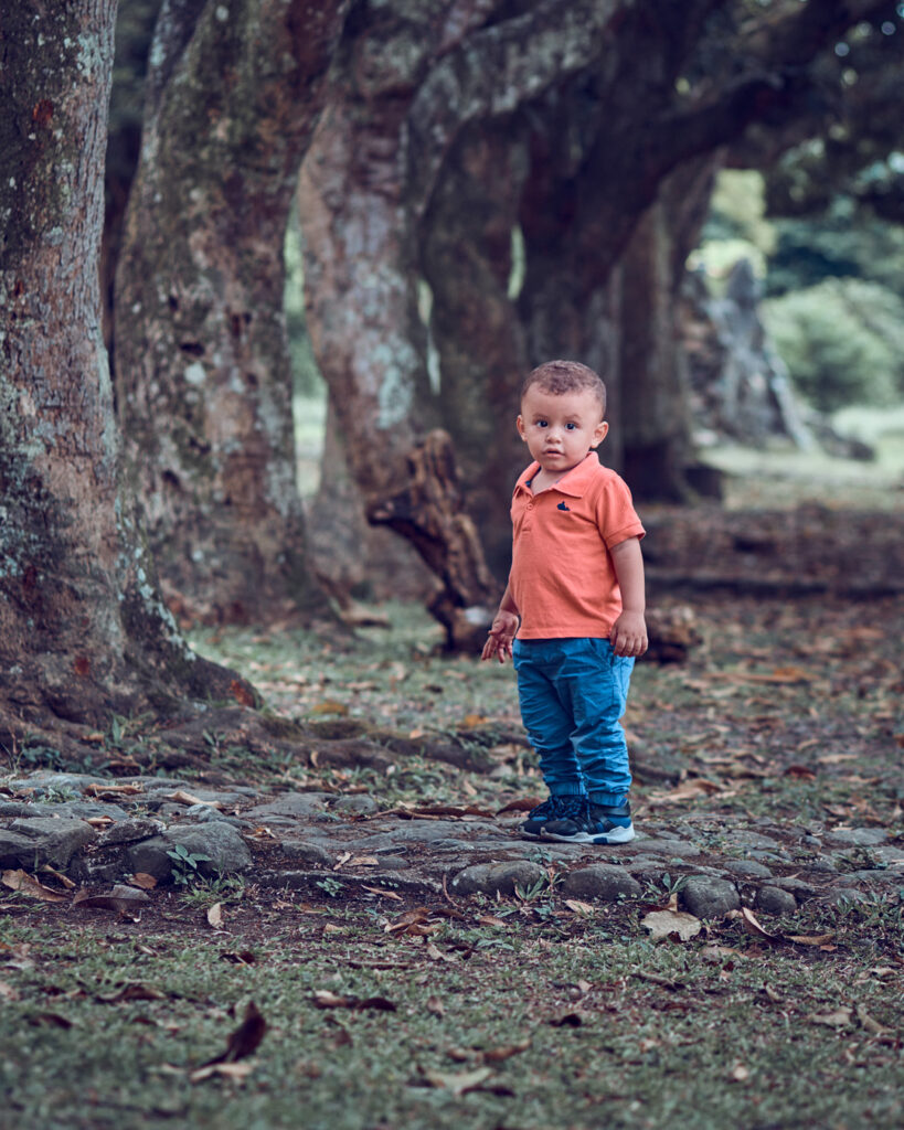 Nico en un bosque
